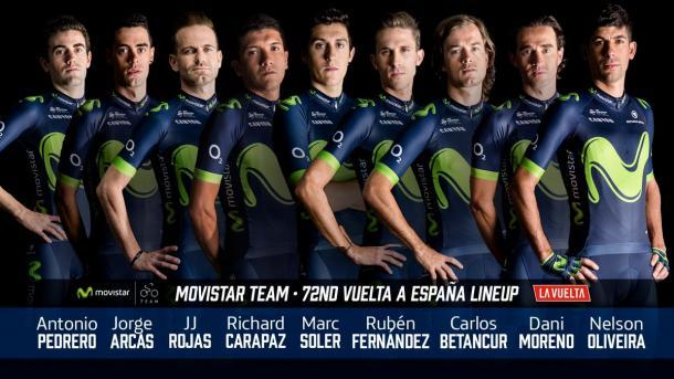 Alineación para la Vuelta a España del Movistar Team