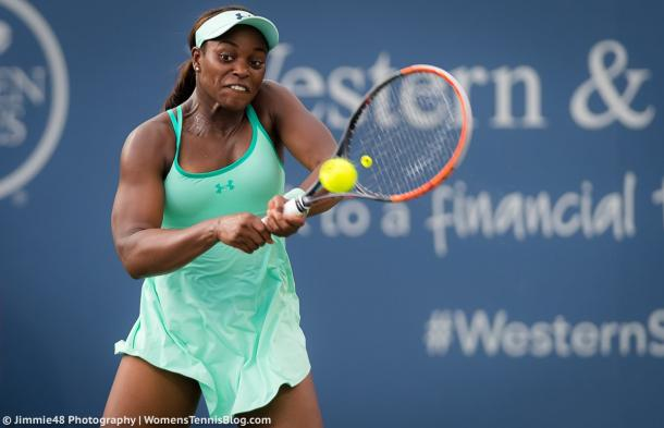 Sloane Stephens in action at the Western and Southern Open, where she earned a couple of excellent victories | Photo: Jimmie48 Tennis Photography