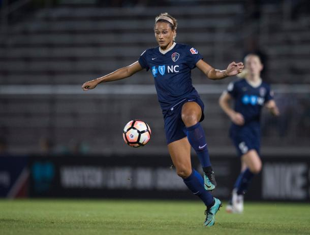 Lynn Williams opened the scoring in Chicago | Source: North Carolina Courage