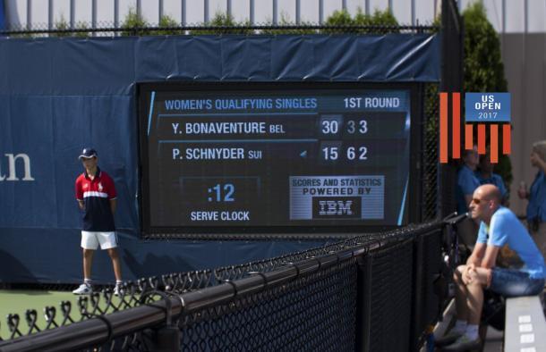 US Open shot clock (Steve Tignor/Twtter)