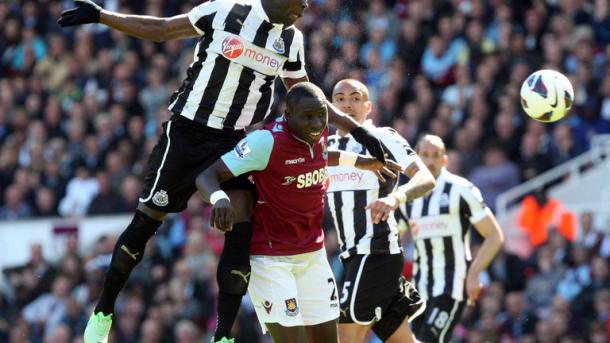 Diame in action against Newcastle whilst at West Ham (Photo: skysports.com)
