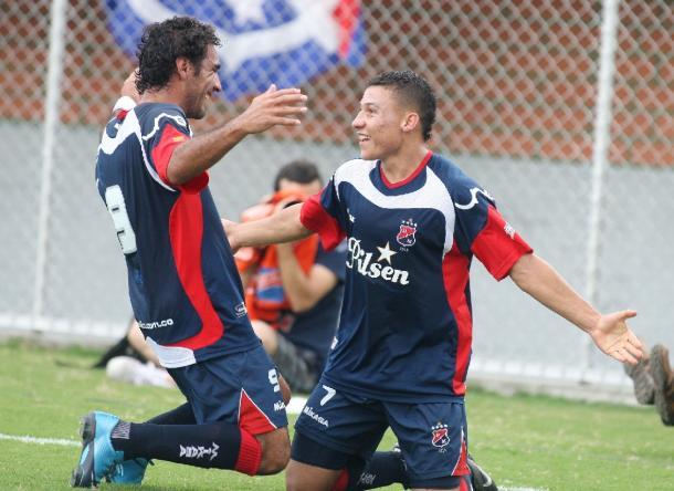 En 2010 Medellín venció por 7-1 a Envigado, máxima goleada del registro. Gimenez  y Arias marcaron tripleta. | Foto: Archivo El Colombiano