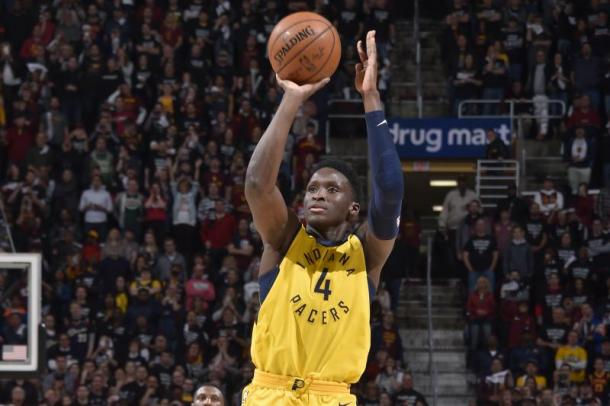 Everyone had wrote off the Pacers after the Paul George trade but Victor Oladipo's magical season proved everyone wrong. Photo: David Liam Kyle/Getty Images