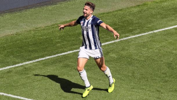 Jay Rodriguez esulta per il gol. Fonte: https://twitter.com/wba