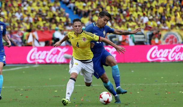 Cafeteros acham empate no segundo tempo e quebram série de vitórias de Tite (Foto: Divulgação/Colômbia)