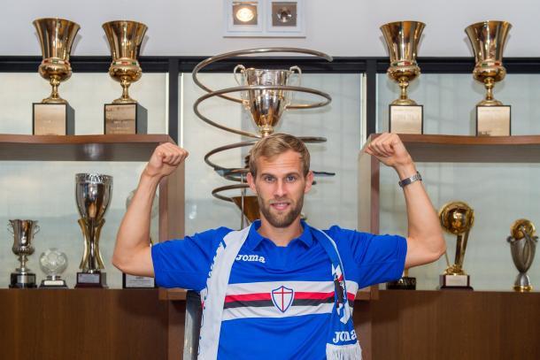 Ivan Strinic nuovo acquisto della Sampdoria | Twitter @sampdoria