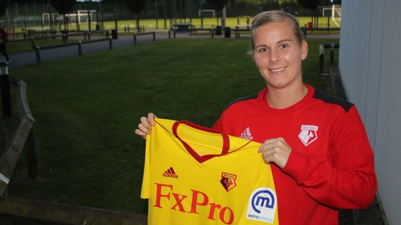 Kylie McCarthy joins the Hornets | Photo source: Watford Ladies