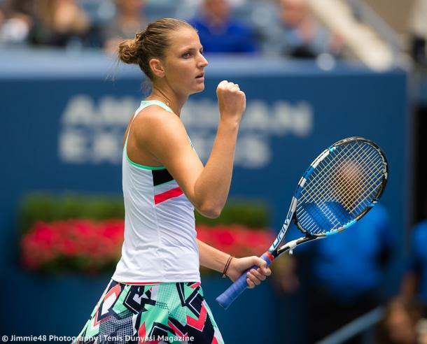 Karolina Pliskova did not play her best tennis today, but was still able to get the win | Photo: Jimmie48 Tennis Photography