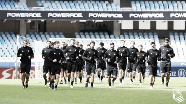 Último treino da Sociedad antes do jogo contra o Madrid | Foto: Divulgação/Real Sociedad
