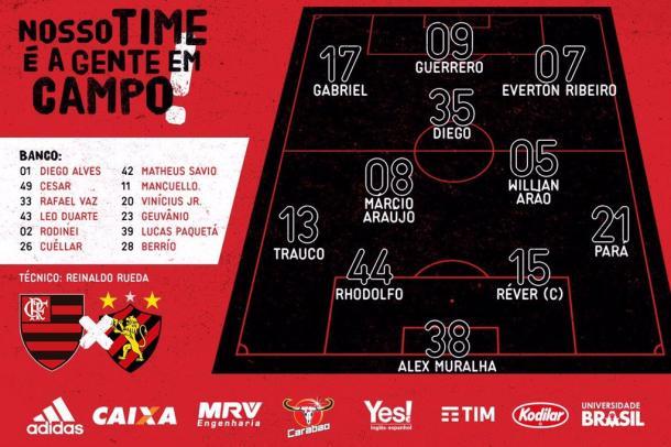 Flamengo vence Sport com gols de Guerrero e Everton Ribeiro