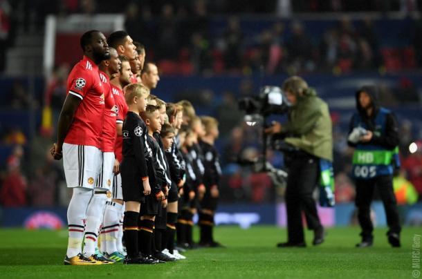 Após quase dois anos, United voltou a disputar uma partida da UCL | Foto: MUFC via Getty