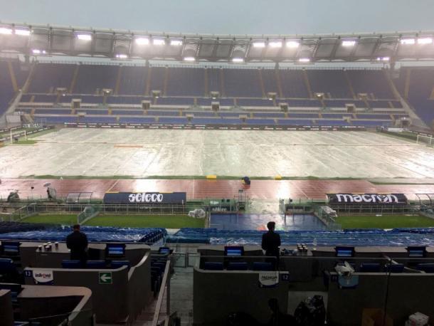 La condizione dello Stadio Olimpico | Fonte: twitter.com/GoalItalia