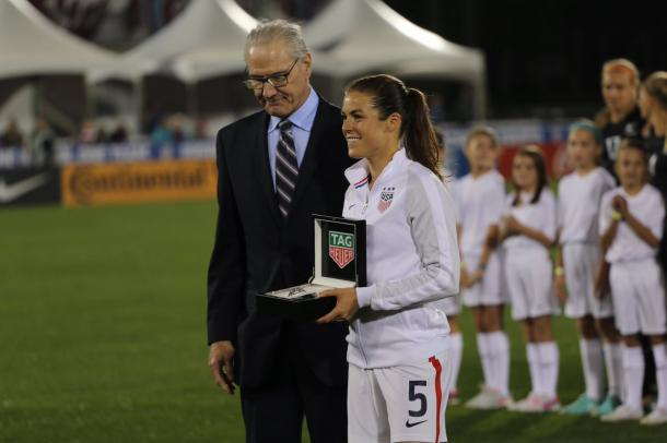 Kelley O'Hara was named captain of the side in honour of her 100th cap | Source: coloradorapids.com