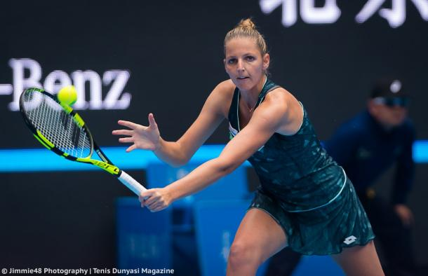Kristyna Pliskova in action | Photo: Jimmie48 Tennis Photography