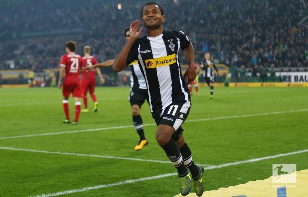 La gioia di Raffael, autore di una doppietta. Foto: Bundesliga Twitter
