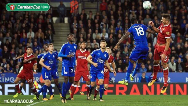 Leicester se aprovechó de Liverpool | Foto: Carabao Cup.
