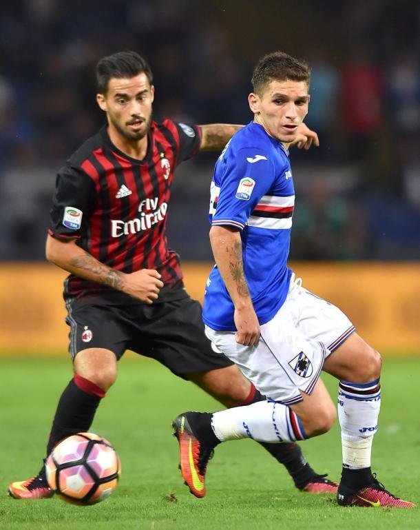 Sampdoria-Milan 2-0, Zapata e Alvarez in gol