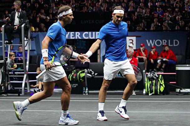 Nadal/ Federer - Fonte: @Avengers / Twitter