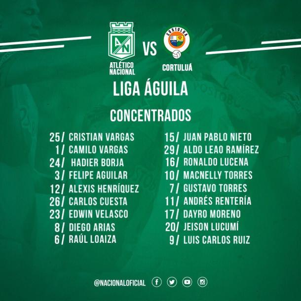 Foto: @nacionaloficial