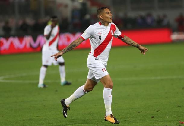 Gol de Guerrero garantiu peruanos em definição contra Nova Zelândia (Foto: Divulgação/Federação Peruana de Futebol)