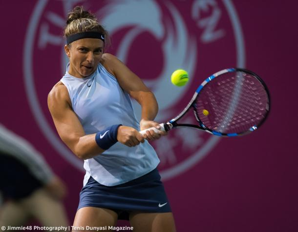 Sara Errani in action | Photo: Jimmie48 Tennis Photography