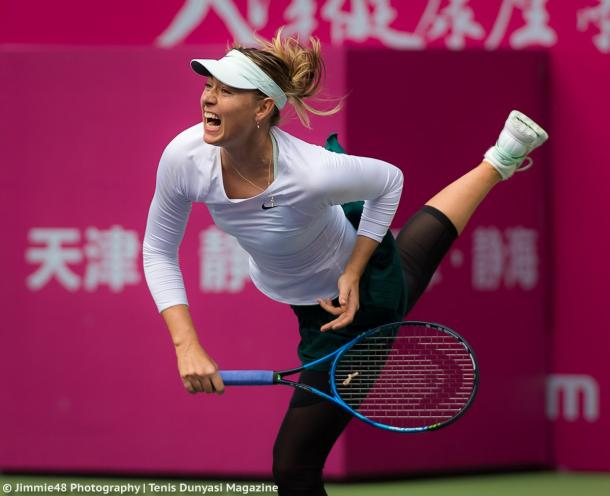 Sharapova storms into Tianjin quarter-finals