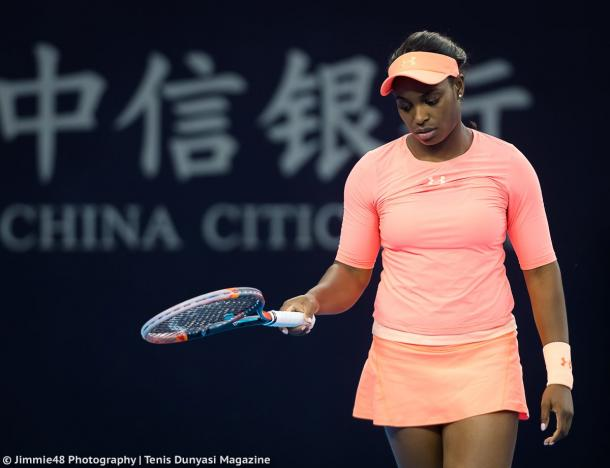 It was a poor Asian Swing for Sloane Stephens, who failed to earn any wins after winning the US Open | Photo: Jimmie48 Tennis Photography