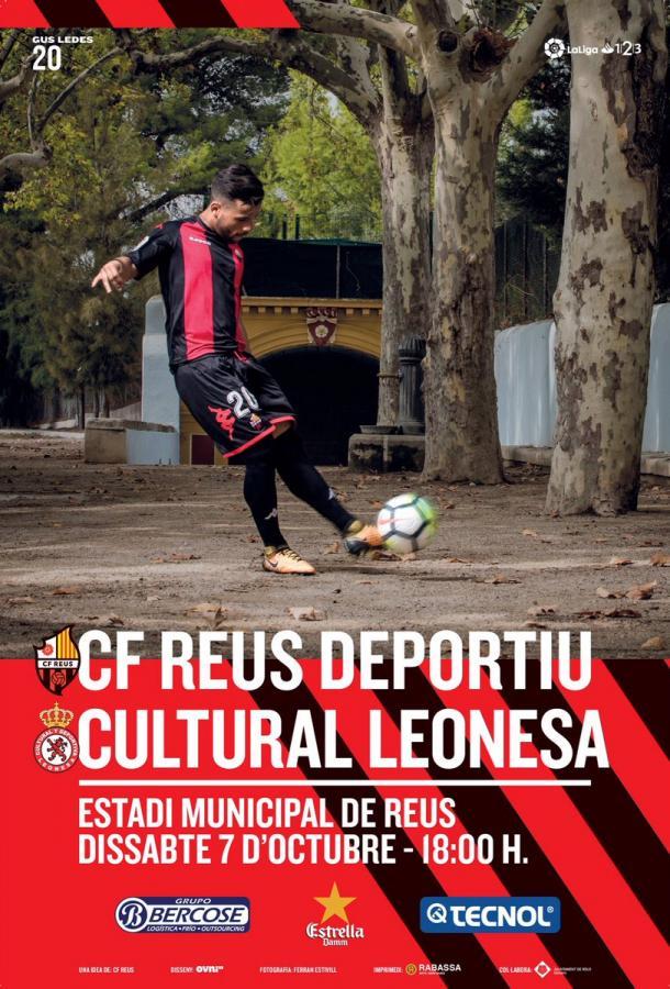 Este es el cartel que el CF Reus Deportiu ha lanzado para promocionar el encuentro | Foto: @cfreusdeportiu