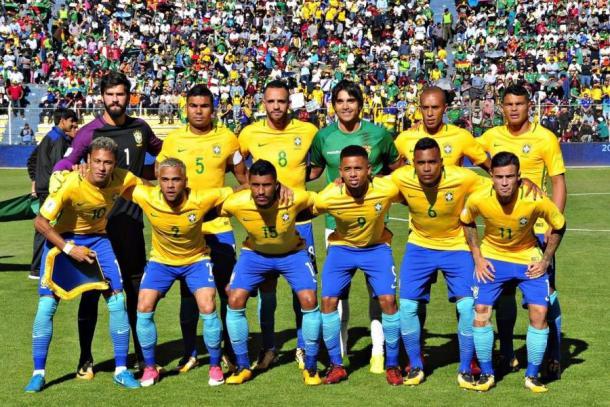 Martins posando con la selección brasileña / FOTO: AFP