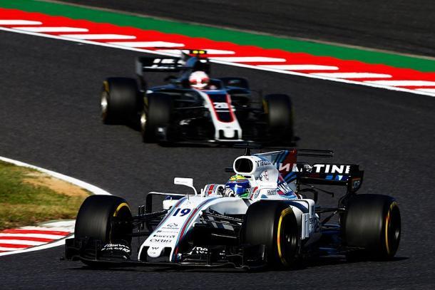 Felipe Massa in azione al Gran Premio del Giappone - Fonte: profilo twitter Williams