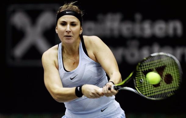 Belinda Bencic in action | Photo: Matthias Hauer / WTA Linz