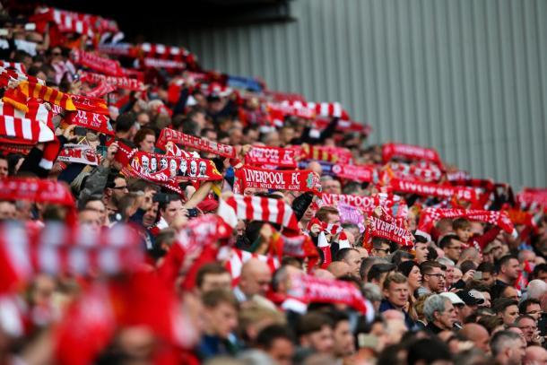 Sciarpata dei tifosi del Liverpool. | Fonte: twitter.com/LFC