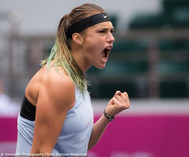 Aryna Sabalenka was all fired up today | Photo: Jimmie48 Tennis Photography