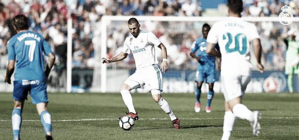 Benzema puso el 0-1 para el merengue | Foto: Real Madrid CF