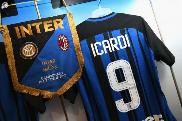 La camiseta de Icardi. / Foto: inter.it
