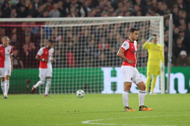 La delusione del Feyenoord dopo il pari ucraino   Photo: twitter @Feyenoord