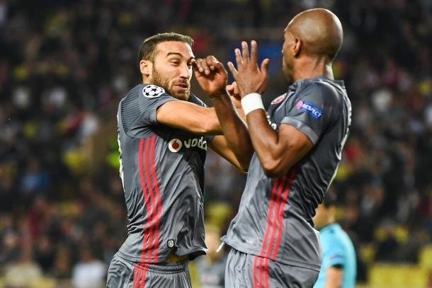 Tosun festeggia la rete dell'1-1 | Photo: twitter @Besiktas