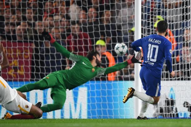 Il gol del 2-0 di Hazar | Twitter @ChelseaFC