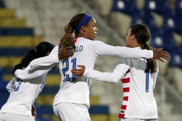 Jessica McDonald has earned a spot on the World Cup roster | Source: Armando Franca-AP