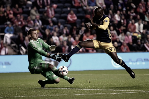 Bradley Wright-Phillps opened the scoring in the 7th minute. | Photo: New York Red Bulls