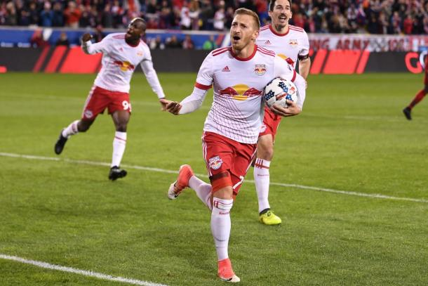 Daniel Royer's first half equalizer gave the Red Bulls a glimmer of hope | Source: newyorkredbulls.com