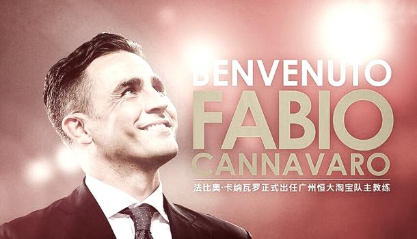 Fabio Cannavaro anunciado como nuevo técnico del GZ Evergrande | Foto: @fabiocannavaro