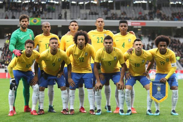 Alineación de Brasil ante Japón | Imagen: @CBF_Futebol
