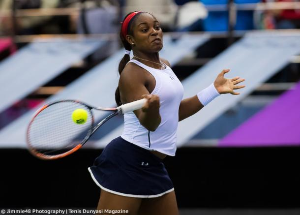 Sloane Stephens in action during the Fed Cup final | Photo: Jimmie48 Tennis Photography