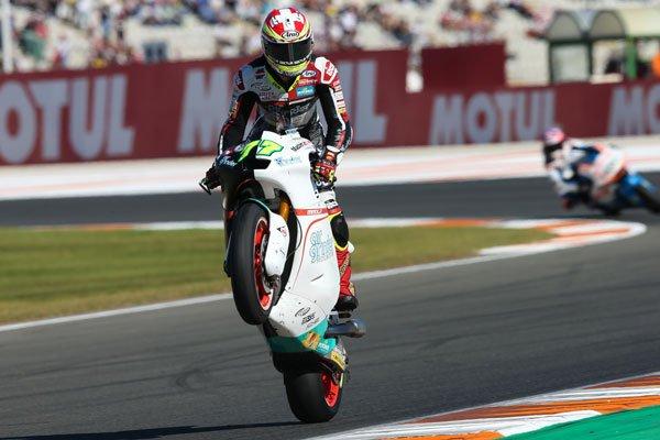 Dominique Aegerter en el GP de Valencia.//Foto: Redes sociales del piloto