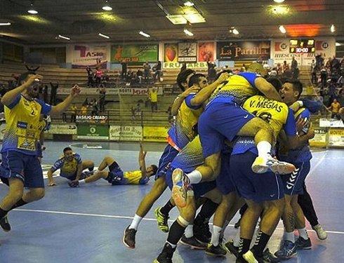 Celebración de los jugadores del Villa de Aranda tras el gol | Foto: Villa de Aranda