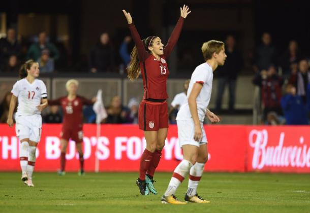 Alex Morgan put the USWNT back ahead within seven minutes of conceding | Source: Kyle Terada-USA TODAY Sports