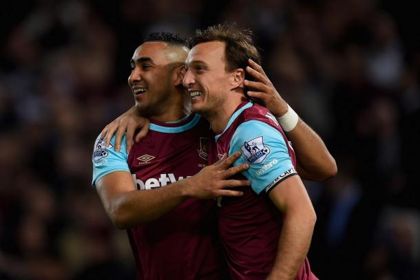 Payet and Noble celebrate. | Image source: Getty Images