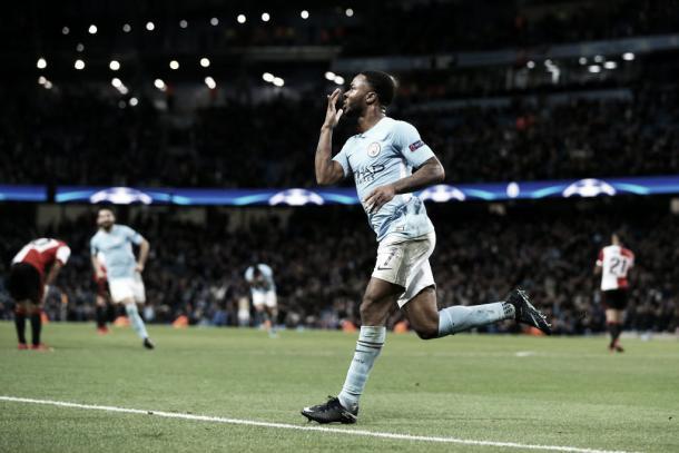 Raheem Sterling, autor del único gol del encuentro   Foto: @ManCity