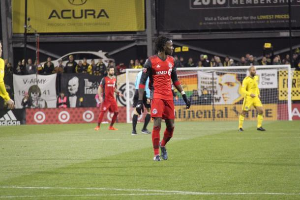 Tosaint Ricketts was anonymous for most of the game   Source: torontofc.ca